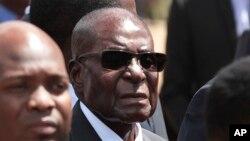 FILE - Zimbabwean President Robert Mugabe.