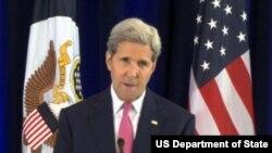 Ngoại trưởng Mỹ John Kerry nói về thỏa thuận hạt nhân Iran tại Philadelphia, Pennsylvania, ngày 2/9/2015.