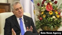 Predsednik Srbije Tomislav Nikolić u razgovoru sa novinarom agencije Beta