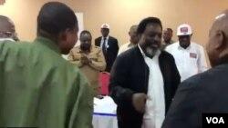 Joseph Kabila, mokonzi ya kala ya RDC mpe mokambi ya FCC na bokutani ya lingomba liye na Kisantu, Kongo central, 28 novembre 2018.