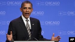 Барак Обама на саммите НАТО в Чикаго