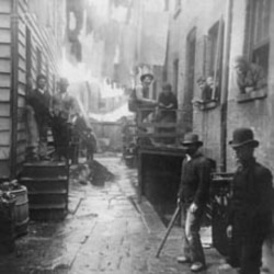 Jacob Riis, Bandit's Roost, Mulberry Street, c. 1888