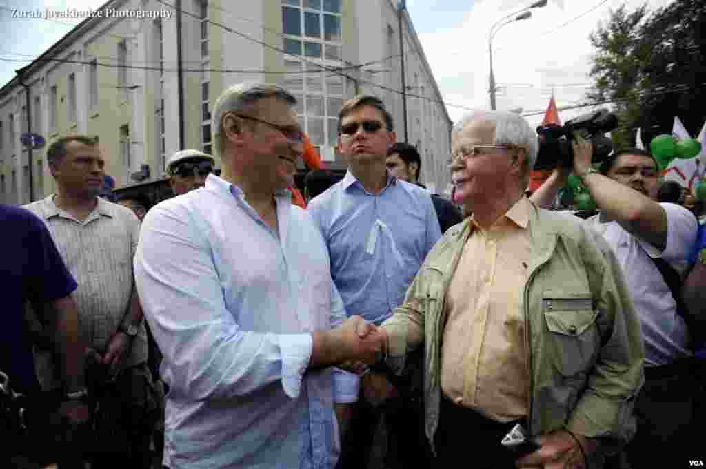 Михаил Касьянов и Владимир Рыжков