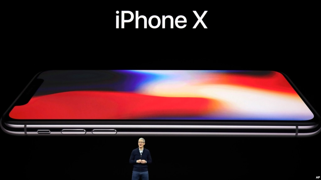 苹果公司首席执行官库克在乔布斯剧场介绍 iPhone X(2017年9月12日)