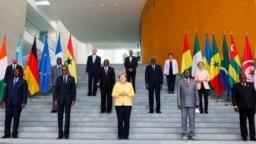 Un Sommet du G20 à Berlin, le 27 aout 2021, en présence de chefs d'Etat africains.