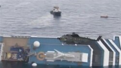 Video of Italian Rescuers Searching for Survivors Inside Wreck of Cruise Ship