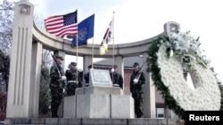 서울 용산 연합사령부 내에 있는 미 8군 한국전 전사자 기념비. (자료사진)