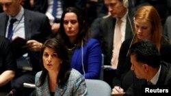 La embajadorar de EE.UU. ante la ONU, Nikki Haley, expresó el apoyo total a la medida de la adminsitración Trump de expular a diplomáticos rusos.