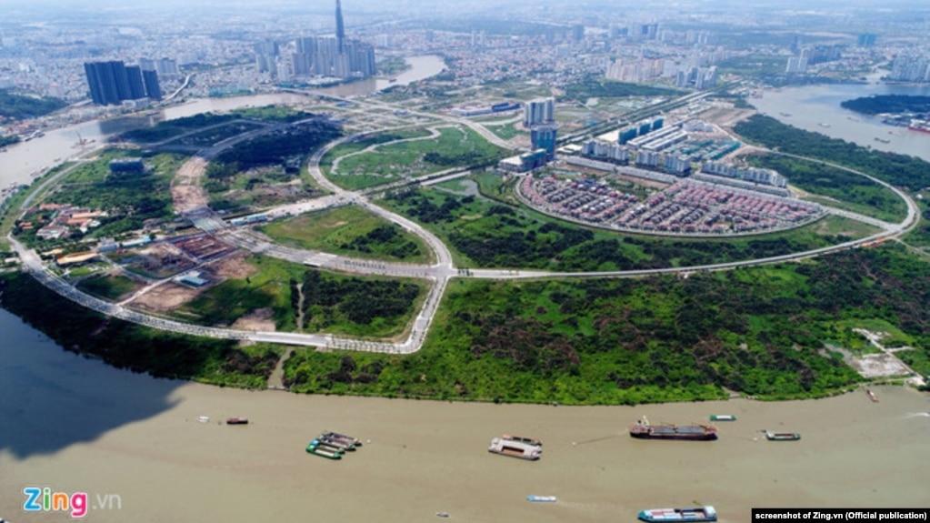 Khu đất ở Thủ Thiêm dự kiến dành cho việc xây nhà hát 1.500 tỷ đồng.