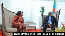 Le président Félix Tshsiekedi et son épouse à Windhoek, Namibie, le 26 février 2019. (Twitter/Présidence RDC)
