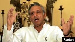 سینیر بھارتی لیڈر منی شنکر ایر، فائل فوٹو