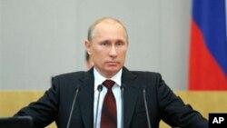 Thủ tướng Nga Vladimir Putin đọc diễn văn trước Quốc hội