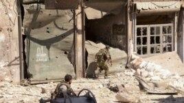 Vojnici sirijske armije u Alepu.