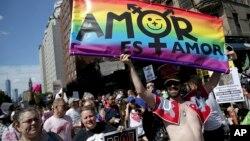 Гей-парад в Нью-Йорке. 30 мюня 2019 г.
