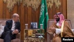 Le Drian ligel prensê Saudi Mohammed bin Salman li Rîyadê