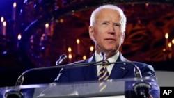 Former Vice President Joe Biden speaks at the Biden Courage Awards, March 26, 2019, in New York.