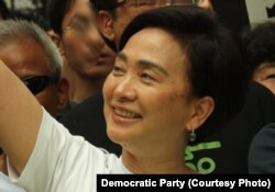 FILE - Emily Lau, a Hong Kong politician and member of the Legislative Council.