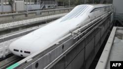 日本中央鐵路公司的磁懸浮列車在打破紀錄後返回車站