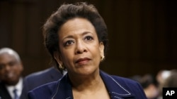 FILE - Attorney general nominee Loretta Lynch appears on Capitol Hill in Washington.