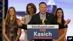 Kandidat calon presiden AS dari Partai Republik, Gubernur Ohio John Kasich.