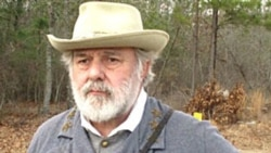 Dave Chaltas is dressed as Confederate General Robert E. Lee during a re-enactment of the Battle of Aiken in South Carolina
