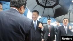 2019年6月27日,在日本大阪府泉佐野舉行的G20領導人峰會開始前,中國國家主席習近平抵達日本關西國際機場。