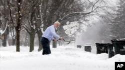 Una de las más castigadas por la nevada el miércoles fue la ciudad de Chicago.