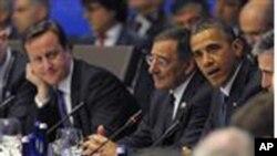 美國總統奧巴馬5月20日在芝加哥北約首腦會議上發表講話