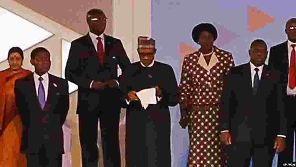 Taron shugabannin Africa akasar India.