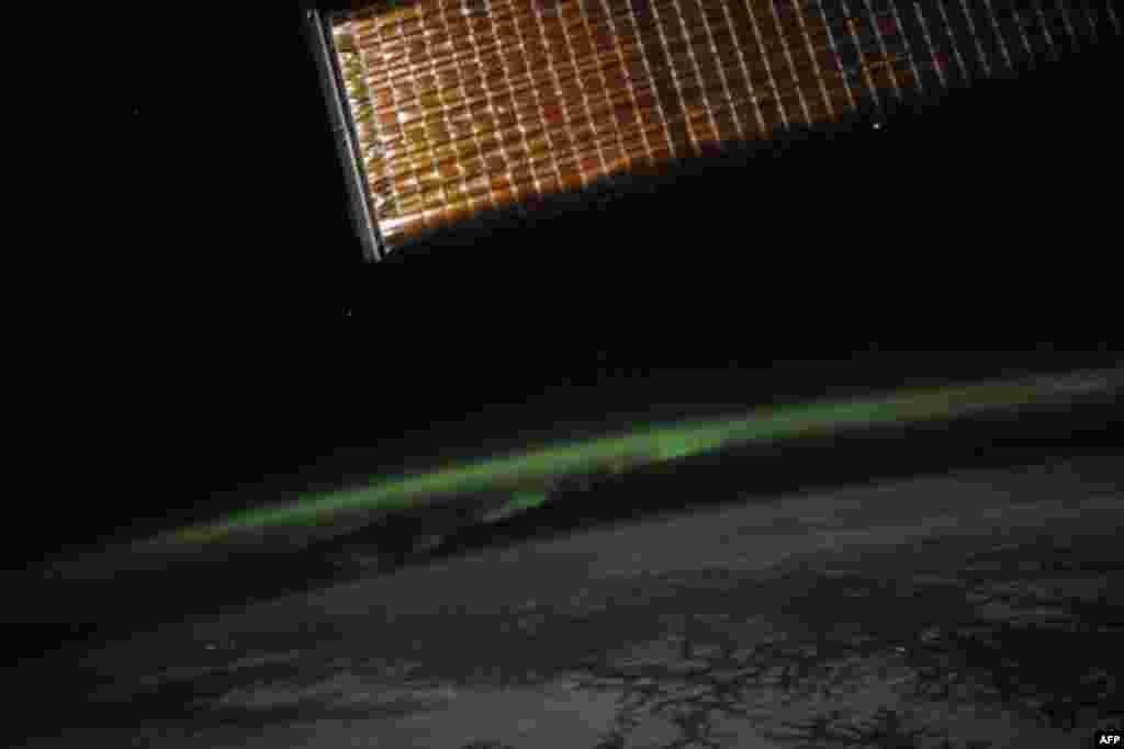 Северное сияние – вид из космоса