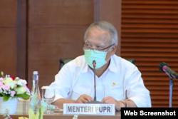 Menteri PUPR Basuki Hadimuljono. (Foto:VOA)