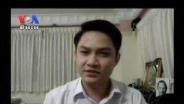 Chap Chetra, a student at the Royal University of Phnom Penh.