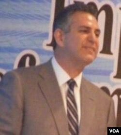 Wakil Menteri Bidang Perdagangan Internasional Amerika, Francisco Sanchez di Nusa Dua, Bali (12/12).