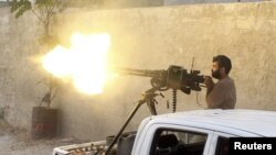حکومت مخالف شامی جنگجو(فائل)