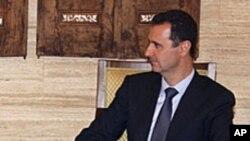 아랍연맹 사무총장과 만난 바샤르 알-아사드 시리아 대통령