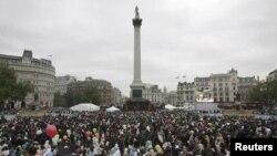 لندن میں عید کی نماز کا اجتماع(فائل)