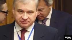 俄罗斯驻中国大使杰尼索夫(美国之音白桦拍摄)