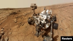 Auto retrata del Curiosity tomado tomado en febrero de este año en la superficie marciana