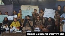 کراچی میں سول سوسائٹی کی جانب سے تحریک لبیک کے دھرنے اور پرتشدد مظاہروں کے خلاف احتجاج، 7 نومبر 2018