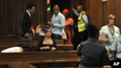 Un procès à la Haute cour à Pretoria, en Afrique du Sud, 12 octobre 2014.