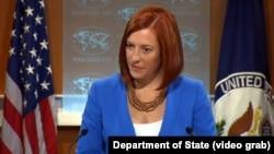 Phát ngôn viên Bộ Ngoại giao Hoa Kỳ Jen Psaki nói Mỹ muốn thấy tất cả 53 tù nhân chính trị được trả tự do