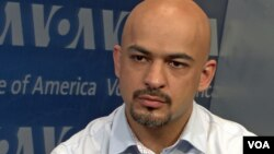 FILE - Mustafa Nayyem at the Voice of America.