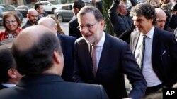 El presidente español, Mariano Rajoy, visitó Barcelona, el jueves, 17 de diciembre de 2015.