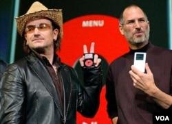 Lider grupe U2 i Steve Jobs