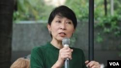 香港立法會議員毛孟靜表示,斯諾登認為香港人以及香港的司法可以決定他的命運,這是非常諷刺 (美國之音湯惠芸)