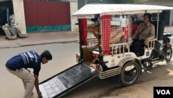 FILE - Mobilituk, a tuk tuk designed by Agile Development Group to assist the disabled, is shown in Phnom Penh, Dec. 21, 2016. (Hean Socheata/ VOA Khmer)