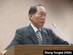 台湾执政党国民党立委陈镇湘 (美国之音张永泰拍摄)