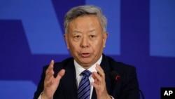 """Khi được hỏi ngân hàng có sẵn sàng thu nhận Hoa Kỳ và Nhật Bản hay không, ông Kim Lập Quần nói rằng: """"Cánh cửa của AIIB đã mở ra và cánh cửa sẽ tiếp tục mở rộng."""""""