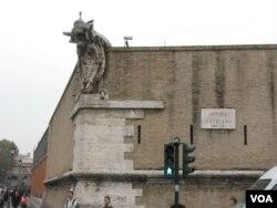 罗马城内梵蒂冈城墙一角(美国之音申华拍摄)