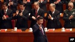 Kineski predsednik Ši Đinping stiže na otvarajući sesiju kineskog 19. partijskog kongresa u Velikoj narodnoj dvorani u Pekingu, 18. oktobra 2017.